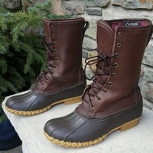 "L.L.Bean gortex 10"" duck boots"